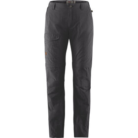 Fjällräven Travellers MT Pantalones Zip-Off Mujer, dark grey